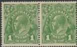 SG 76 ACSC 77(4)vb. KGV Head 1d Sage-Green pair (AHSM/41)